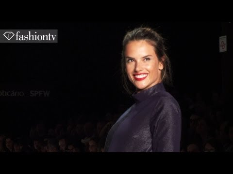 5-Months Pregnant Alessandra Ambrosio on Colcci's Runway at Sao Paulo Fashion Week Fall 2012 | FTV