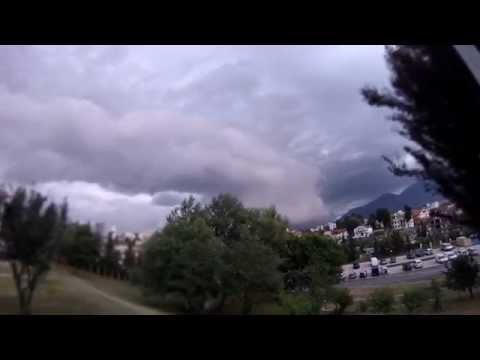 Stormy weather in Tirana
