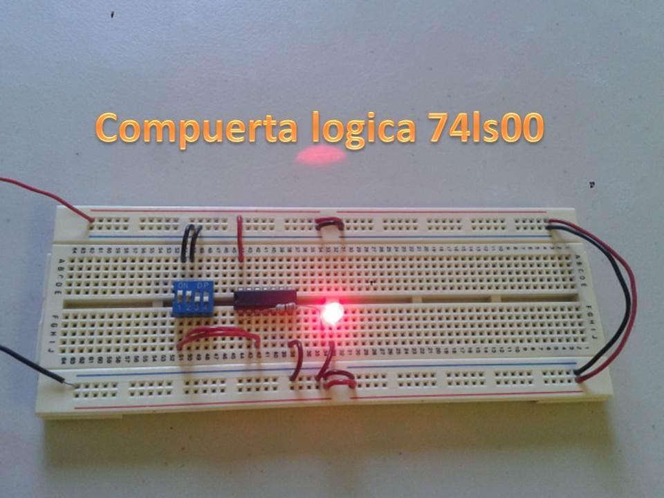 Circuito Not : Circuitos en protoboard con compuertas logicas