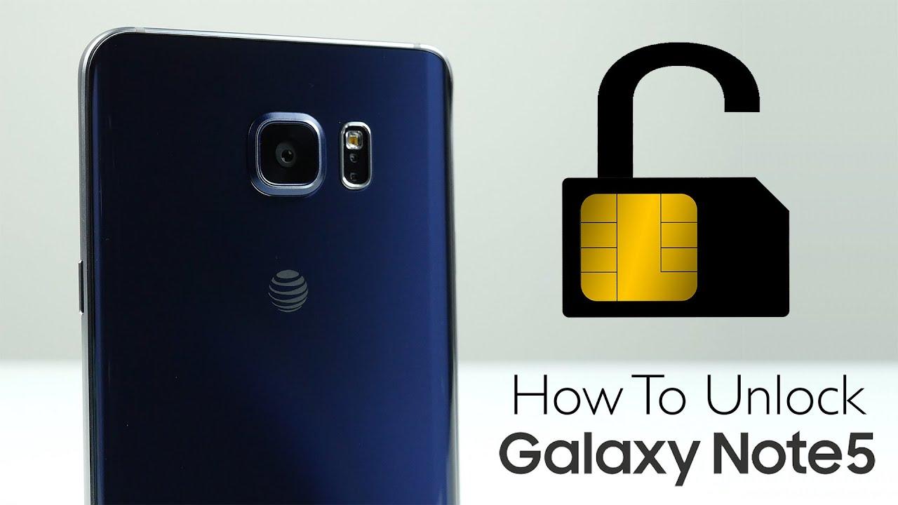How To Unlock Samsung Galaxy Note 5 - SIM Unlock