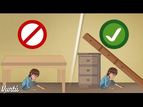 Consejos para sobrevivir en un terremoto. Compártelo con tu familia