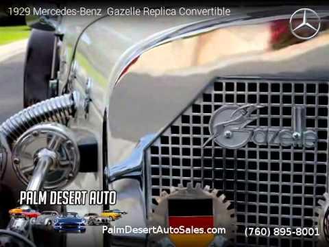 1929 mercedes benz gazelle replica convertible palm for Mercedes benz palm desert