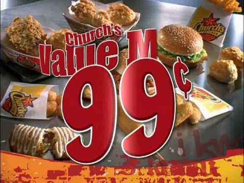 Brand New Churchs Chicken 99 Cent VALUE MENU Commercial