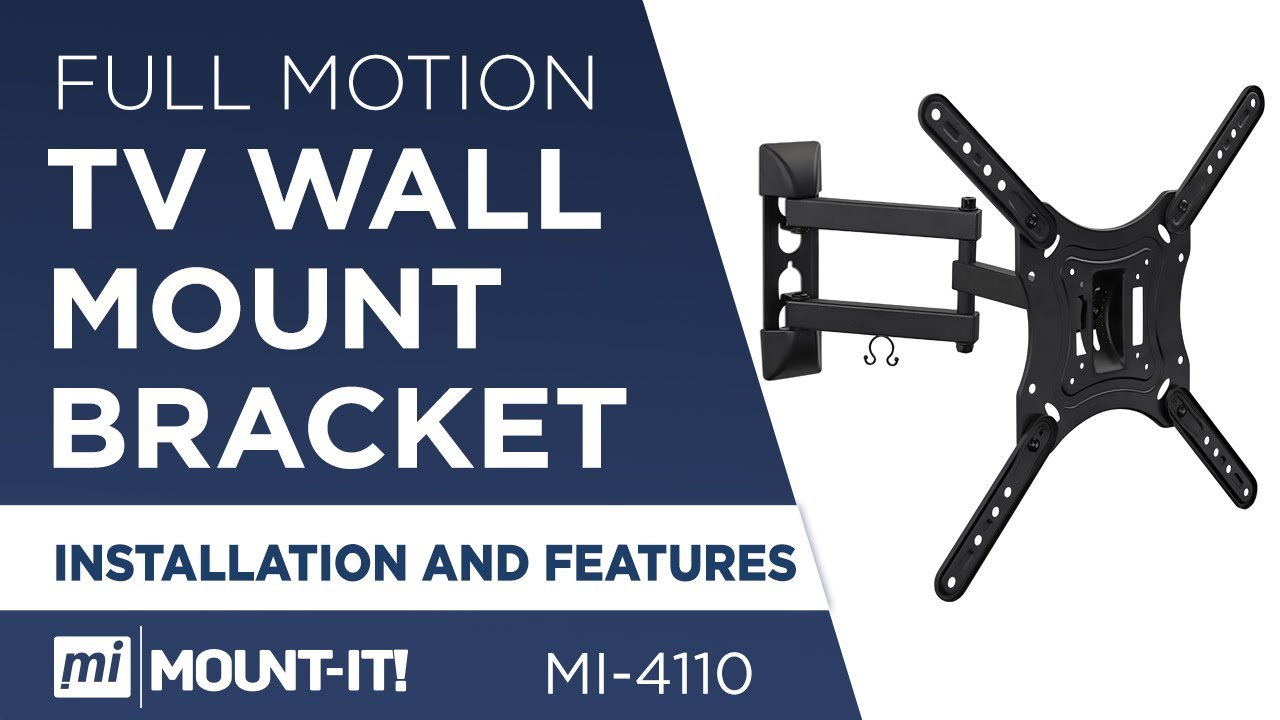 Single stud tv wall mount - Mount It Mi 4110 How To Install Your Tv Wall Mount Bracket Full Motion Single Stud Installation