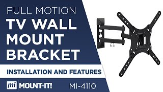 Mount-It! MI-4110 How to Install Your TV Wall Mount Bracket, Full Motion, Single Stud Installation