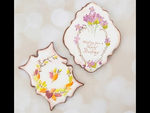 How to Decorate Dimensional Vintage Birthday Cookies
