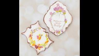 How to Decorate Dimensional Vintage Birthday Cookies 🎁🌼🍂