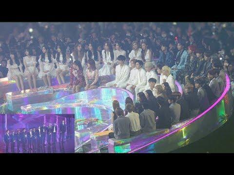 "181201 IDOLS Reaction to WannaOne ""BEST RECORD OF THE YEAR"" (워너원 올해의레코드 대상 가수석 리액션) 4K 직캠 by 비몽"
