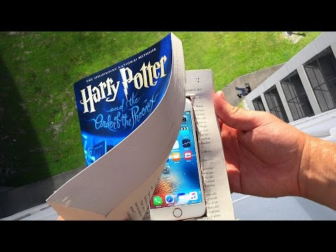 Can Harry Potter Book Protect iPhone 6s from 100 FT Drop Test?