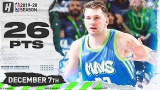 Luka Doncic 26 Pts Full Highlights | Pelicans vs Mavericks | December 7, 2019