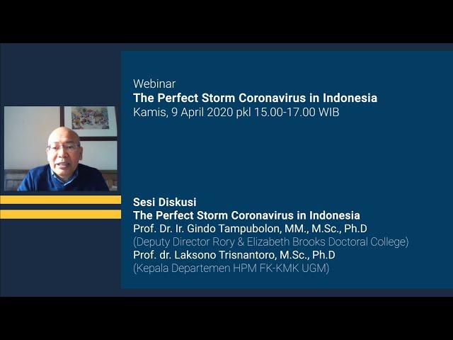 Sesi Diskusi The perfect storm coronavirus in Indonesia