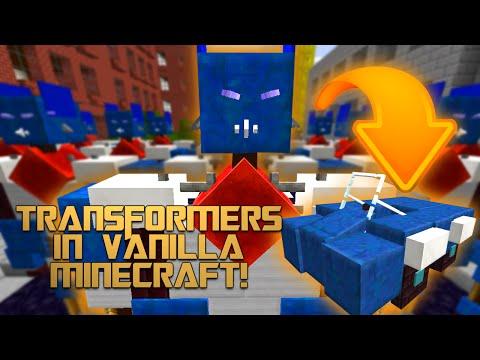 TRANSFORMERS IN VANILLA MINECRAFT | No Mods | Minecraft Redstone Magic