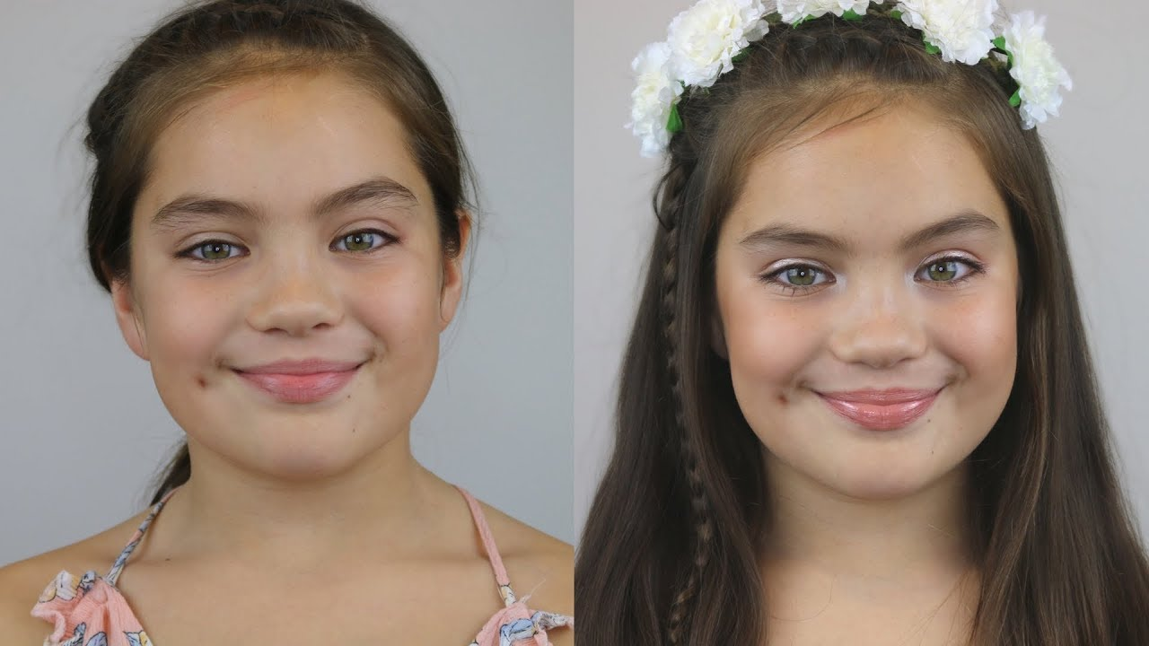 Natural Flower Girl Makeup Tutorial  Riri Makeupnz - Youtube-1674
