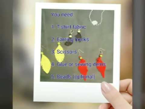 Fabric Feathers Earring DIY