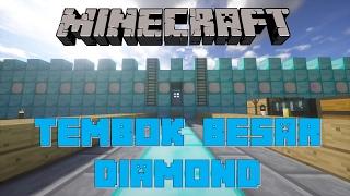 """TEMBOK BESAR DIAMOND"" Noob Survival Minecraft Indonesia #47"
