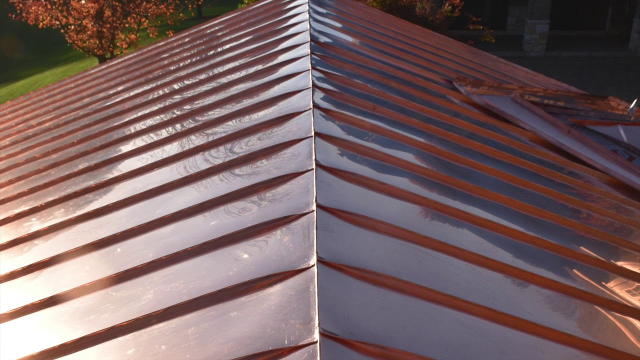Standing Seam Copper Roof Installation Youtube