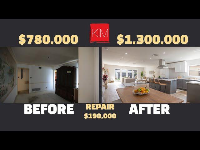 Complete Single family home flip in Los Angeles  $300,000 Profit