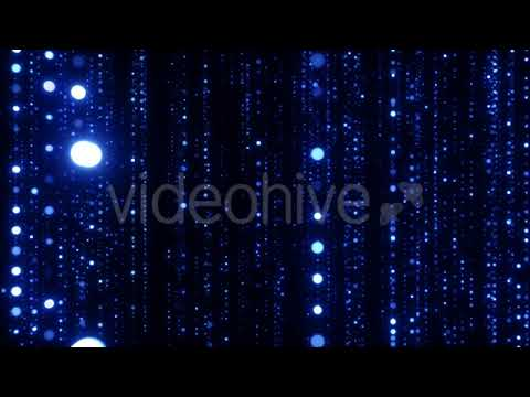 Shiny Blue Particles Background