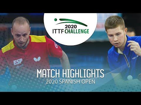 Carlos Machado Vs Denis Ivonin | 2020 ITTF Spanish Open Highlights (R64)