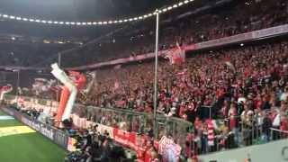 FC Bayern München - Borussia Dortmund 2:1, Elfmeter Arjen Robben, Südkurve