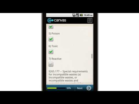 Canvas Best Management Practices Waste Characterization Mobile App