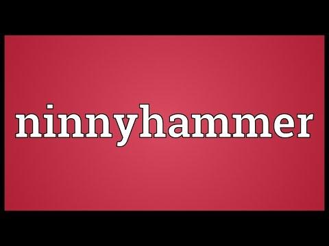 Header of ninnyhammer