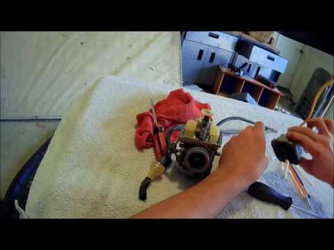 dirt bike carb clean/over flow fixed (ttr125)