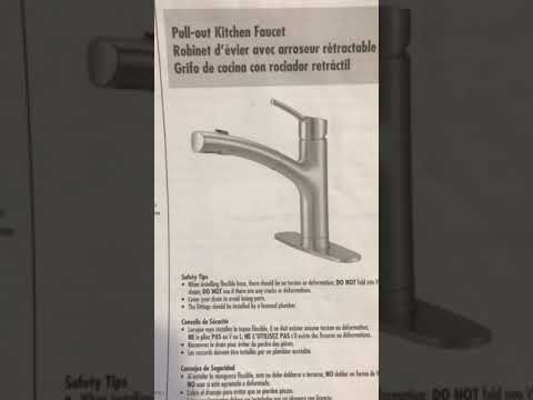 Remove A Water Ridge Kitchen Faucet Youtube
