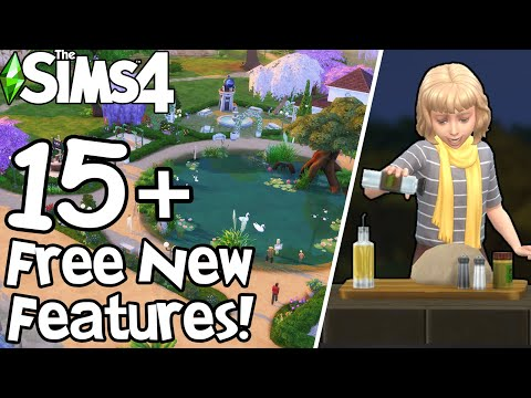 The Sims 4: PONDS, GROUP COOKING, FOOD DELIVERY, AND MORE! (July 2021 Patch Update)