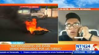 """""""Hay estudiantes siendo perseguidos por turbas y motorizados en Nicaragua"""": Lesther Alemán"""