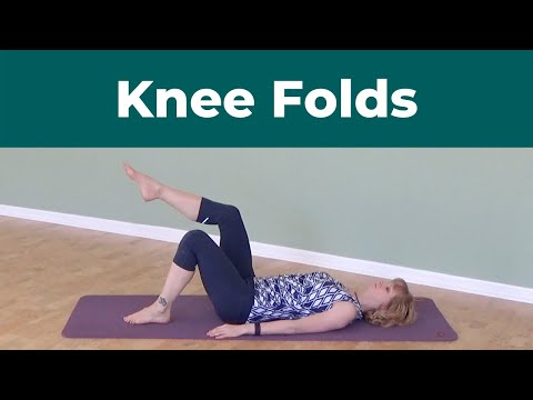 Knee Folds ⎮An Easy But Effective Pilates Core Strengthening Exercise