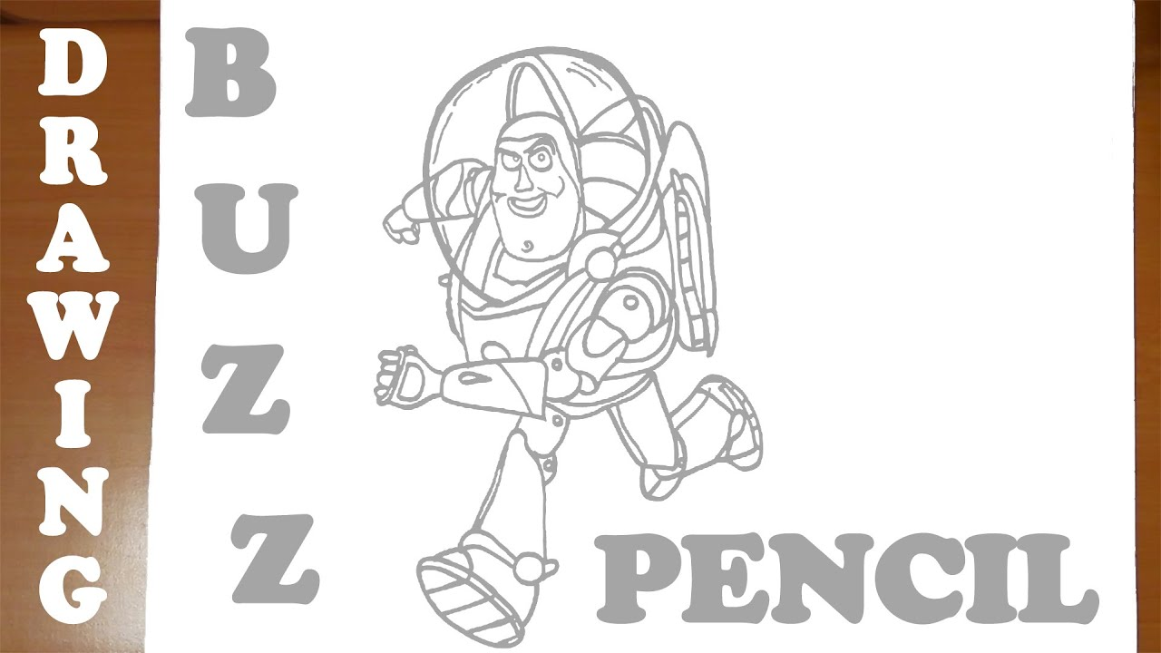 how to draw buzz lightyear from toy story easy for kids pencil mrusegoodart