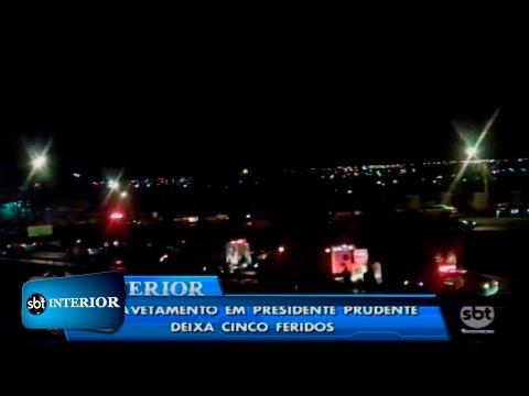 Prudente: engavetamento envolvendo 15 veículos fere cinco pessoas