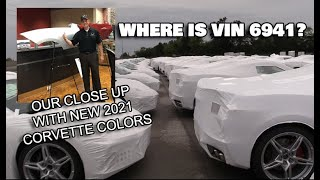 OUR UP CLOSE LOOK AT NEW 2021 CORVETTE COLORS & LOOKING FOR VIN 6941