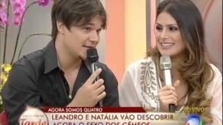 Natália e Leandro descobrem o sexo dos bebês no palco do Programa da Tarde - Parte 2