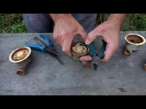 Как добыть латунь для скульптуры из счетчика воды