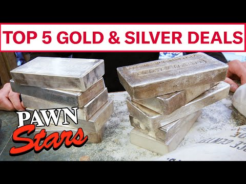Pawn Stars: TOP 5 GOLD & SILVER DEALS   History