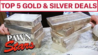 Pawn Stars: TOP 5 GOLD & SILVER DEALS | History