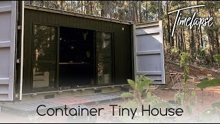 Container Transformation - Tiny House Start to Finish Timelapse