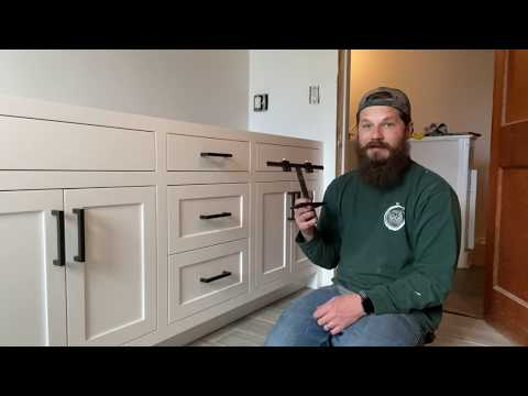 Shaker Cabinet Handle Installation With TP 1934 Cabinet Hardware Jig | True Position Tools