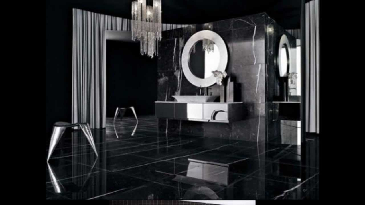 19 Ideias de Decoração de Banheiro em Preto  YouTube # Decoracao De Banheiro Com Louca Preta