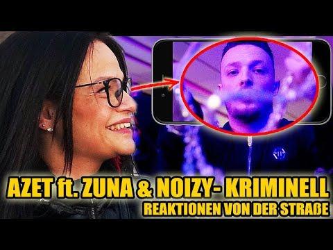 AZET ft. ZUNA & NOIZY - KRIMINELL || LIVE REAKTIONEN VON DER STRAßE 😱 - Leon Lovelock