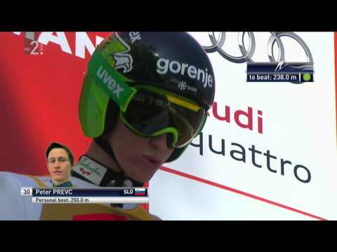 All 8 flights Peter Prevc in Planica 2016