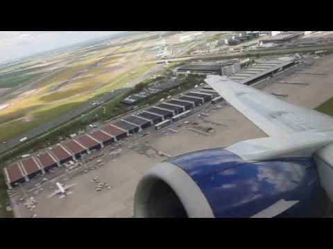 *Heavy braking* British Airways B737-400 Amsterdam - London Gatwick