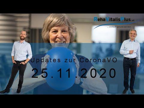 Updates zur CoronaVO 25.11.2020