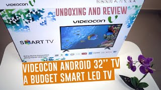 A budget Android 32 39 39 Smart TV Videocon 32 Inch LED TV Black E32DM1100