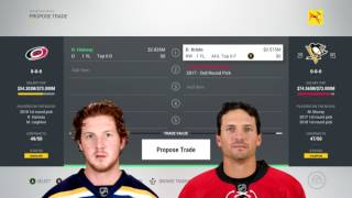 NHL 17 TRADE DEADLINE NEWS: Simulating The Ron Hainsey Trade