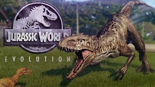 Jurassic World Evolution - Mutated Indominus VS Rex, Indom DNA & Raptor Secret! - JW:E Gameplay