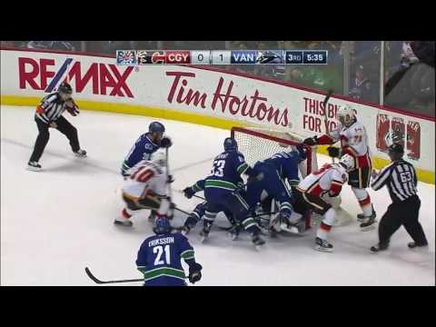 Calgary Flames vs Vancouver Canucks - February 18, 2017 | Game Highlights | NHL 2016/17