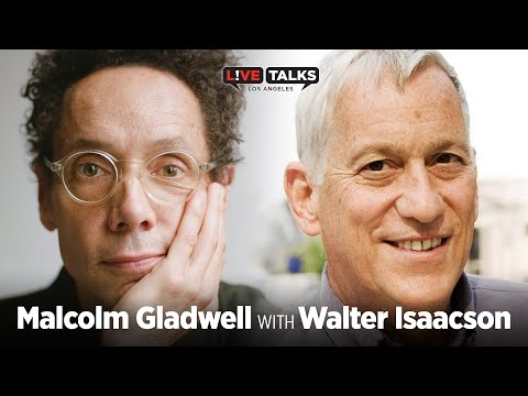 Malcolm Gladwell in conversation with Walter Isaacson at Live Talks Los Angeles